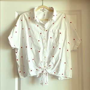 Madewell Tie-Front Short-Sleeved Blouse